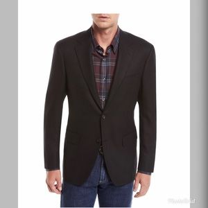 Canali Men's Water Resistant Travel Wool Blazer